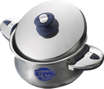 Nouval Richy Heavy Plus Bombe Pot With Stainless Steel Lid With Hand 24