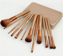 Makeup Brushes Set 12 Pieces Kit With Metal Boxes