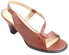 Short Brown Heel Sandal For Women