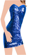 Fashion Group Blue Sequin Special Occasion Dress For Women