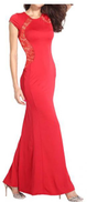 Fg Red Polyester Special Occasion Dress For Women