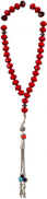 Logina Red Rosary For Unisex