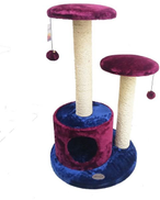 CATRY CAT TREE 50 x 50 x 81cm FOR SCRATCHING REST OR SLEEP N PLAY W HANGING TOYS
