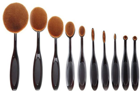 Make Up For You Professional Foundation Brush 10pcs Set - Black