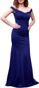 Fg Navy Mixed Materials Special Occasion Dress For Women