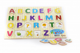 ilearn What is Inside My ABCs Puzzle - 26 pcs Shape Sorters & Stackers