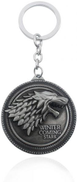 Zinc Alloy Metal Game of Thrones Stark Keychain - Sliver