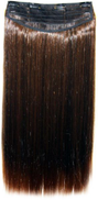 Fashion 26inch Heat Resistance Synthetic Hair Extension - BROWN