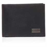Kenneth Cole Reaction Bifold Wallets for Men, Leather - Black