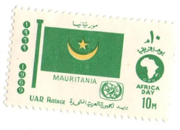 Egyptian Postage stamp flag of Mauritania 1969