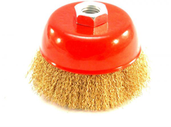 union BRASS COATED STEEL WIRE CUP BRUSH 3 INCH