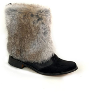 Dou By Misura Black Pull On Boot For Women