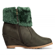 JB Wedges Boots For Women - Green