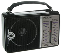 GOLON RX-606 Classic RADIO works with electricity, 4-bands AM,FM,SW1,SW2