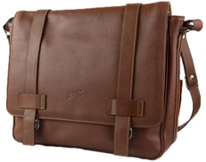 SevenK Briefcases Bags Leather Brown For Unisex