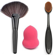 Other 3 Pcs High Line Brush And Foundation Brush And Beauty Blender Puff Sponge