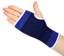 0 Wrist Sleeves Elbow Knees Ankle Basketball Protector Badminton Support Hand Brace Carpal Tunnel Elastic Tendonitis Pain Relief blue