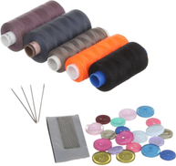 0 Sewing Kit Set, Threads with Needles and Buttons - Multi Color