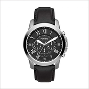 Fossil Grant Watch for Men - Analog Leather Band FS4812 FS4812IE