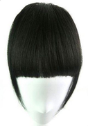 Other Clip in human hair full fringe bangs