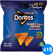 Doritos Sweet Chili Peeper Tortilla Chips, 15 Pouch