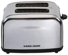 Black & Decker 2 Slice Cool Touch Toaster Stainless Steel Material item 5118