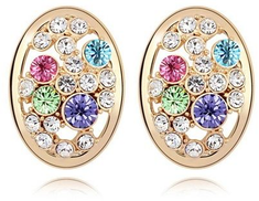 LZESHINE 18k Rose Gold Plated Made With Austrian Crystal Stud Earring Model ER-HQS0004
