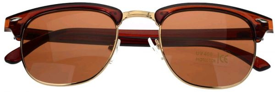 Other Clubmaster Sunglasses For Unisex, Brown
