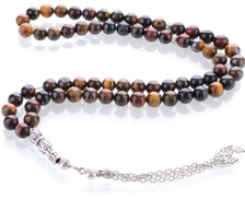 Rosary for Men with Eye of the Tiger dark Stone , SUB-021