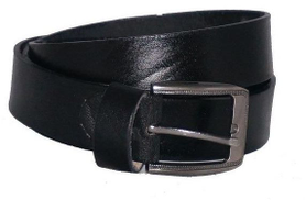 Duchi Black Leather Belt For Men