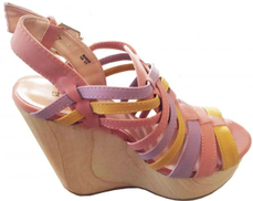 ShoeDazzle Multi Color Wedge Sandal For Women