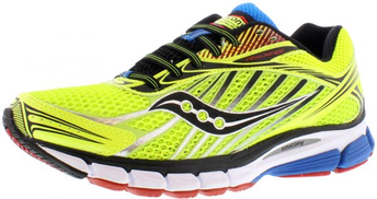 Saucony Ride 6 Running Shoes for Men, Yellow Black Silver