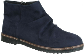 Dinari & Co Dark Blue Chelsea Boot For Women