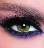 Bella Glow Colored Lenses - Lime Green - 3 Months