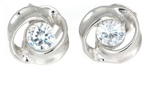 Other Swirl Earrings - Silver 925 Plated