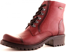 DarkWood Burgundy Lace Up Boot For Women