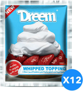 Dreem Whipped topping With Labany flavor Set Of 12, 45 gm