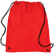Polyester drawstring backpack waterproof Sports, GYM, PE, School, Dance, Shoe. Book Backpack 30x40 - Red