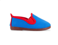 Flossy Callahorra Canvas Color-Block Slip-On Shoes for Kids - Blue & Red