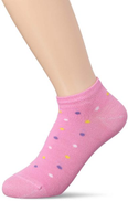 Dima Dots Knit Cotton Ankle Socks for Kids - Dark Pink, 23 - 26