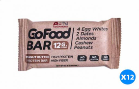 Advanced Go Food Protein Bar with Peanut Butter Flavour - 56 gm