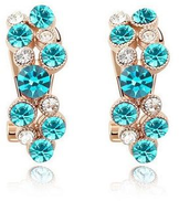LZESHINE Female 18K Rose Gold Plate Earrings With Austrian Crystals Model ER-HQS0112