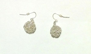 metal silver ball earring