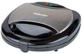 Black & Decker TS2020 Sandwich Maker Grill 2 Slots, 750W - Black