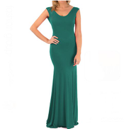 Fashion Group 100300 Dress For Women -green.Large