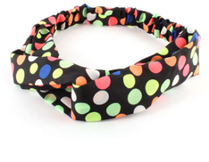 Hair hoop from Cotton black color with colors circles item NO 430 - 11
