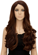 Fashion pop women natural wavy hair long curly fluffy wig for lady brown gradient HC-D610