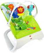 fisher price Fisher-Price Rainforest Friends Comfort Curve Bouncer Baby Seat CJJ79