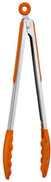 Orange Silicone Stainless Steel Handle Cooking Salad Serving BBQ Tool Tongs Kitchen Utensil