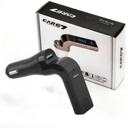 Carg7 Universal Car MP3 FM Transmitter Modulator Wireless Bluetooth compatible with smart mobile phone - black